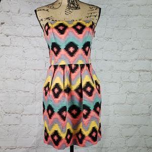 RACHEL Rachel Roy strapless dress size 8